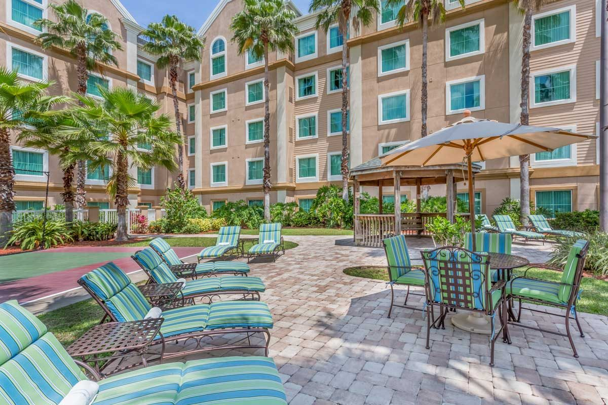 Lounge Seats Outside Hawthorn Suites Lake Buena Vista