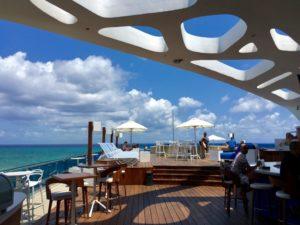 bar with a beach view cancun