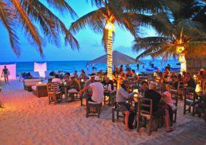 Cancun bars on the beach