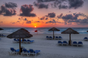 empty beach in Cancun