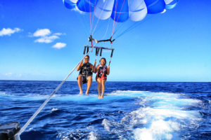 tandem parasailing for two
