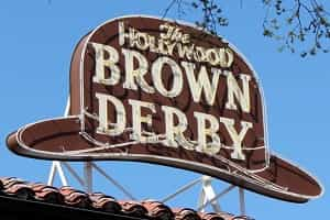 Disney World Brown Derby Menu